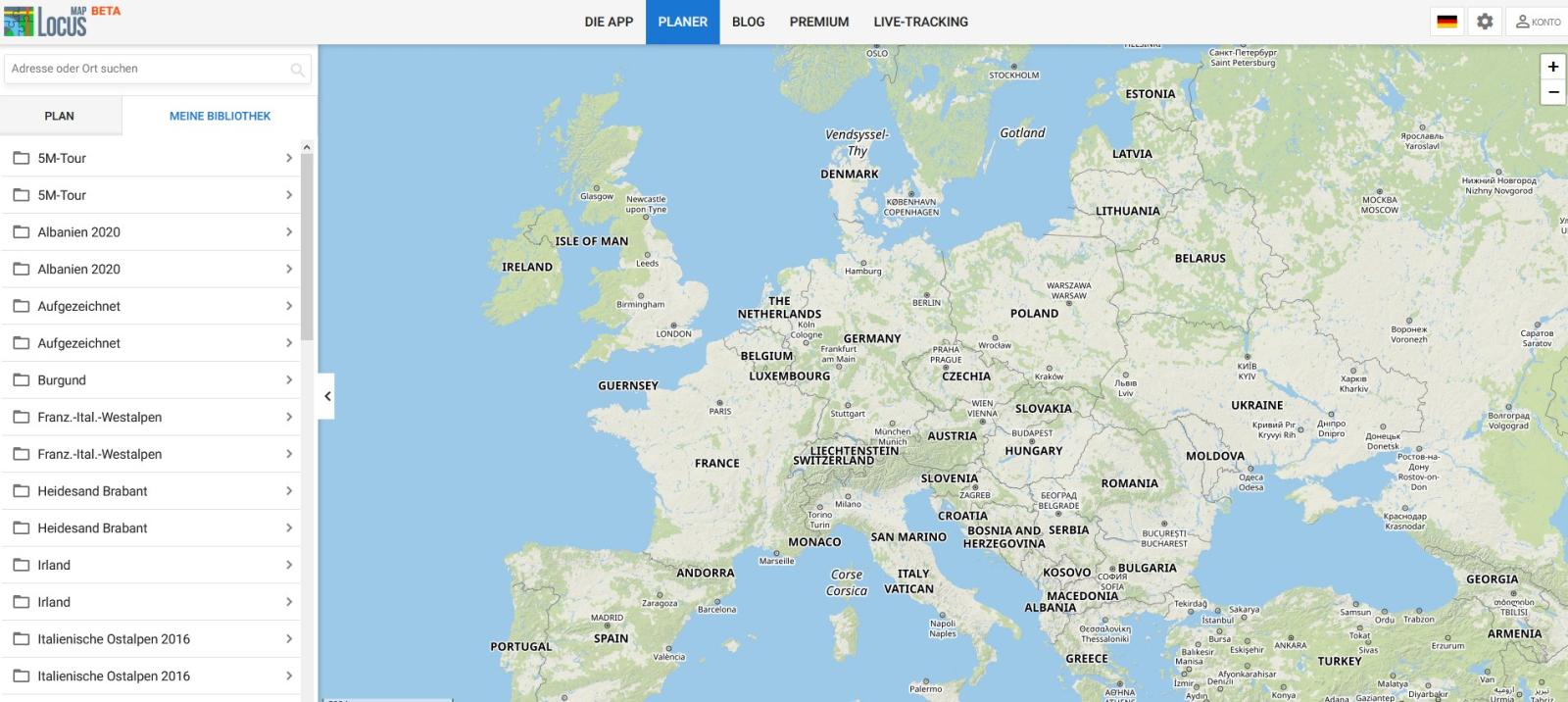 Endlich mit Locus Map 4: Planung am heimischen PC.