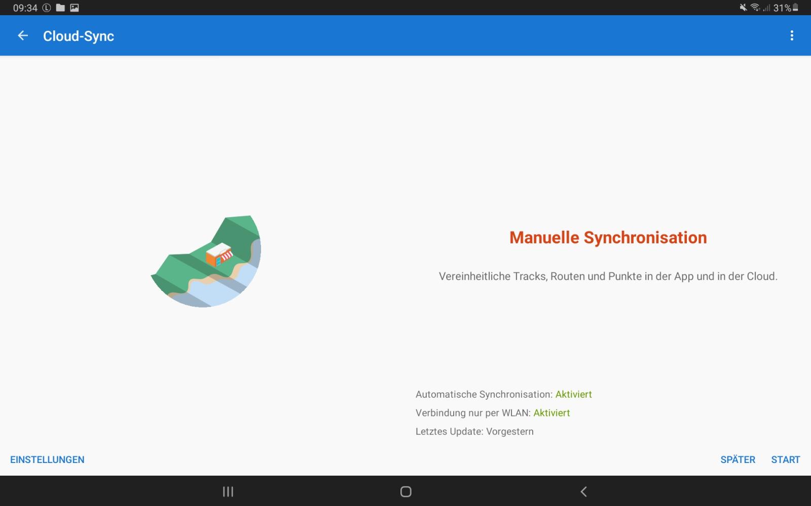 Neue Funktion: Cloud-Synchronisation der Daten zwischen allen Geräten.