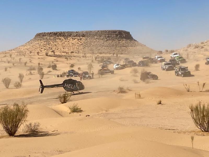 Der Biercopter auf den Fenix Rallye 2021.