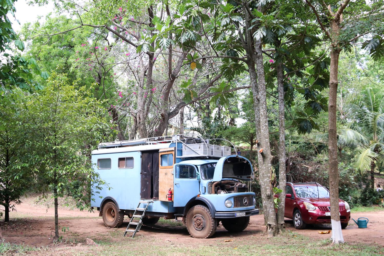 Weiterfahren ist leider nicht mehr möglich. Wir hängen in der Elfenbeinküste fest.