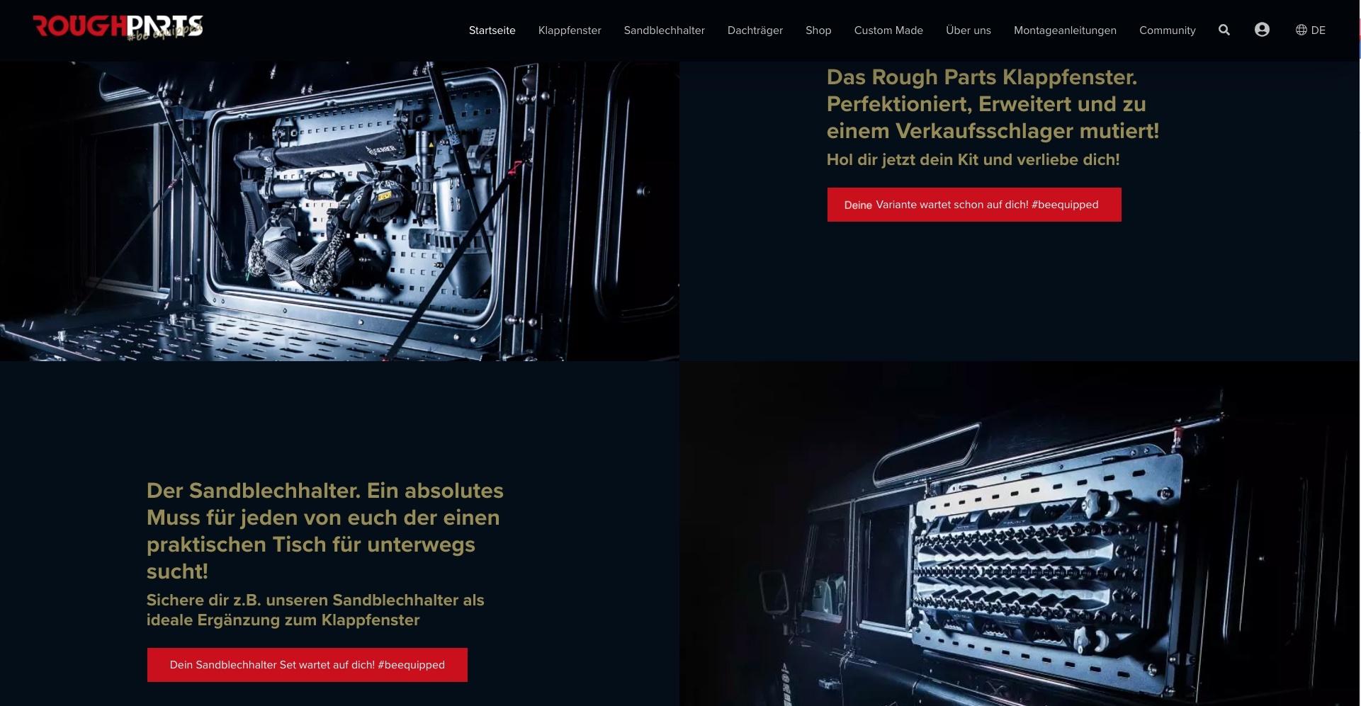 Rough Parts Ausrüstung für Defender neuer Webshop