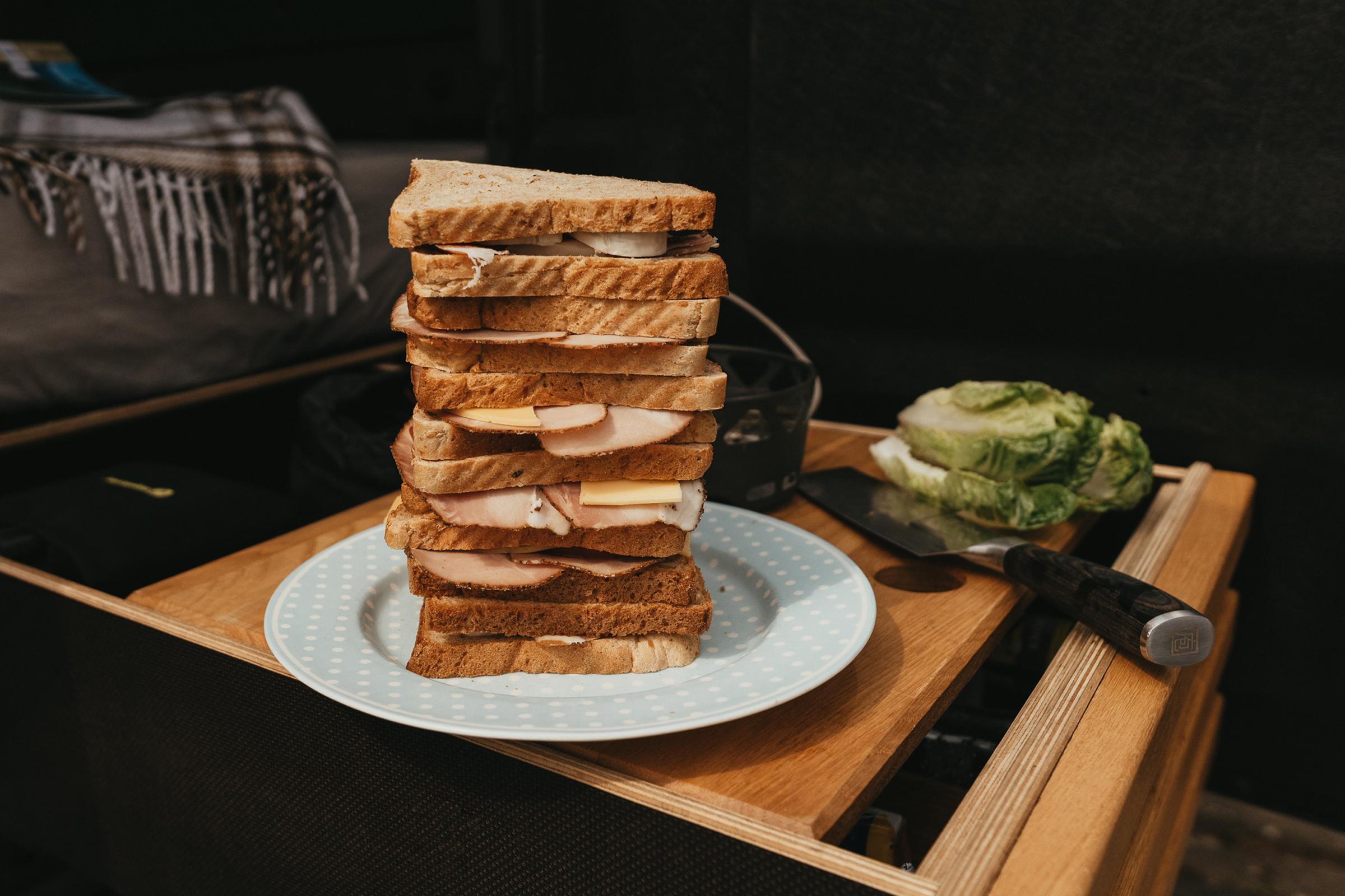 Sandwich-Stapel
