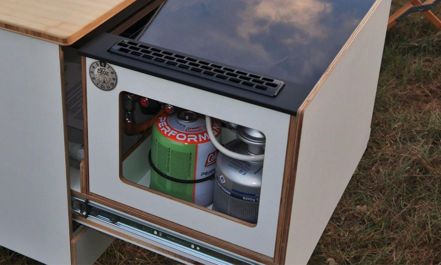 Queensize Camper Modularer Innenausbau für VW T5/T6 Kochbox - Küchenmd