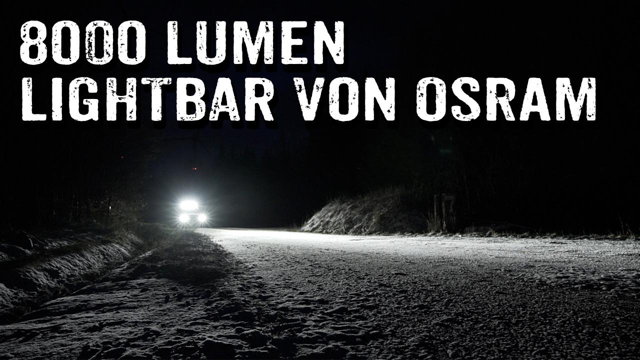 Van bekommt große Lightbar FX1000 von Osram - 4x4PASSION - #344